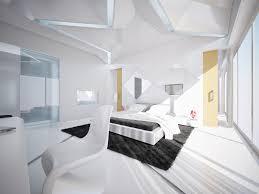 white contemporary bedroom home interior design ideas