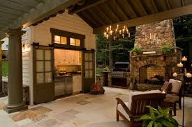 Outdoor Kitchen Covered Patio Kitchen Outdoor Kitchen Design Idea In Tropical Patio With The