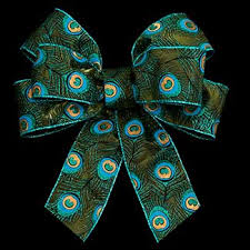 peacock ribbon 2 1 2 wired peacock feathe ribbon floral supply syndicate