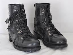 harley davidson boots mens harley davidson motorcycle boots leather pegbar skull zip sz