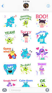 disney stickers monsters app store