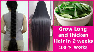 grow long and thicken hair in 2 weeks fast hair growth treatment
