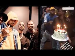 brown birthday party usher s birthday party with chris brown omarion jermaine dupri