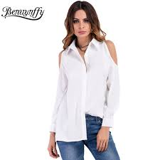 popular white shirt women long sleeve buy cheap white shirt