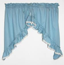 Turquoise Ruffle Curtains Ruffled Swag Curtains U0026 Country Ruffled Swags Window Toppers