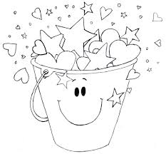 bucket filler coloring page qlyview com