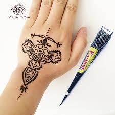 3pcs kashmir indian most black henna tattoo paste cones hand