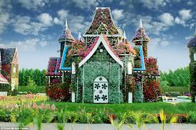 flower house rainbow coloured oasis with 45m flowers is in the middle of a