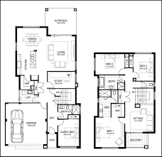 two story home plans contemporary two story residence floor plans contemporary medium
