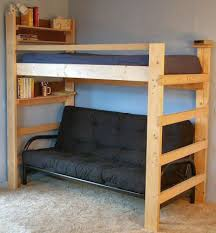 Loft Bed With Desk And Futon Loft Bed U0026 Bunk Beds For Home U0026 College Handcrafted Usa Dorm