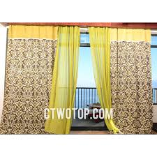 Yellow Patterned Curtains Cotton And Linen Decorative Living Room Yellow Patterned Curtains