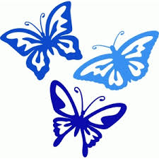silhouette design store view design 146858 butterfly monogram