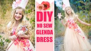pink witch costume toddler diy glenda no sew costume easy good witch dress youtube