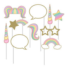 photo booth supplies unicorn sparkle party supplies photo booth props 10 pack