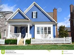 blue cape cod style dream home stock photos image 23771443
