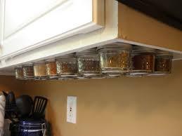 magnetic under cabinet spice rack 6 steps