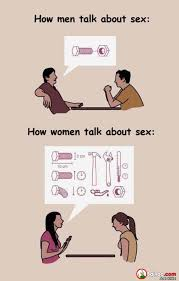 Men And Women Memes - men and women talk about sex to each other