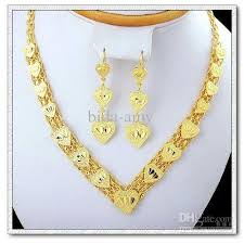 gold plated necklace set images Cheap fashion copper with 18k gold plated jewelry sets necklace jpg