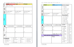 Weekly Lesson Plan Template Common by In Middle School Lesson Planning Format