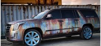cadillac escalade v series cadillac escalade wrapped in rust chrome