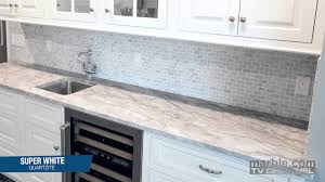 furniture enchanting mosaic tile backsplash and super white quartzite