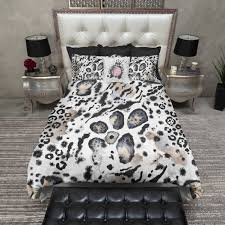 abstract watercolor animal print duvet bedding sets ink and rags