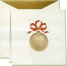 vera wang greeting cards gold ornament verawang