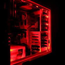 Led Light Strip Kits by Nzxt Cb Led1 R Sleeved Computer Case Led Light Strip Kit Red 1