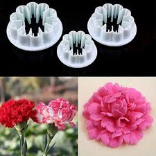 flower fondant cakes new 3pcs set blossom carnation flower fondant cake sugarcraft gum