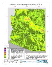 Maps Of Arizona Windexchange Arizona 30 Meter Residential Scale Wind Resource Map