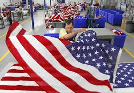Embroidered American Flag Goodwill Workers Make American Flags In Miami Miami Herald