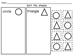 free sorting shapes practice pages both 2 d and 3 d soli
