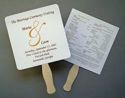 ceremony fans 17 best wedding programs fans images on wedding