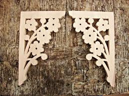 Farmhouse Decor Victorian Wooden Corbel Brackets Screen Door