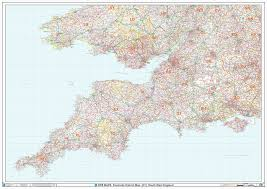 Dorset England Map by South West England Postcode District Wall Map Xyz Maps