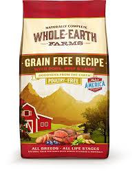 amazon com whole earth farms grain free recipe dry dog food pork