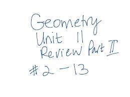 showme geometry unit 3 review part 2