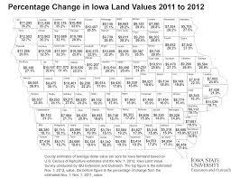 Map Of Iowa Counties 2012 Iowa Land Value Survey Results Iowa State University