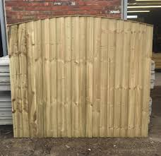 pressure treated arch top wooden garden fence panels in
