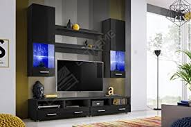 Living Room High Gloss Furniture Set Display Wall Unit Modern TV - Furniture wall units designs