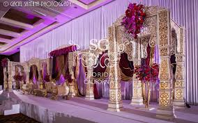 white gold and purple wedding suhaag garden florida indian wedding decorators california
