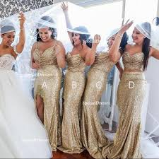 gold bridesmaid dresses mismatched sparkly gold sequin mermaid bridesmaid dresses cheap
