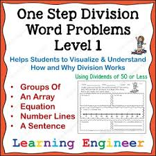 3rd grade math centers division word problems one step equations