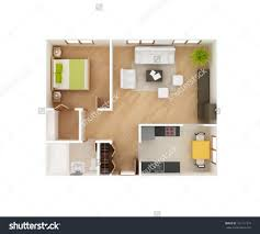 stock photo simple d floor plan of a house top view bedroom bath