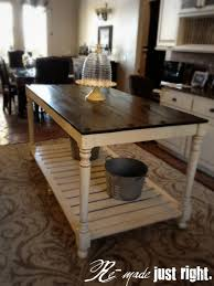 how to build a kitchen island with seating 30 rustic diy kitchen island ideas
