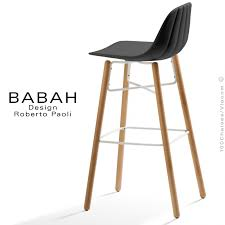 tabouret cuisine tabouret de bar design babah wood 80 pieds bois naturel assise
