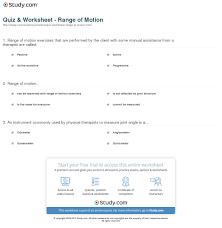 quiz u0026 worksheet range of motion study com