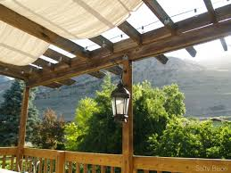 Patio Cover Shade Cloth by Outdoor Space Makeover Painted Floors U0026 Diy Drop Cloth Shade