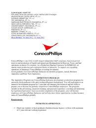 lowongan conoco philips apprenticeship engineering
