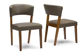 Wood Dining Chairs Amazon Com Baxton Studio Montreal Mid Century Dark Walnut Wood